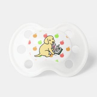 Curious Yellow Labrador Puppy Baby Pacifiers