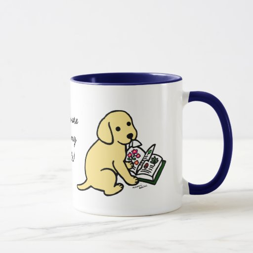 Curious Yellow Labrador Puppy Mug