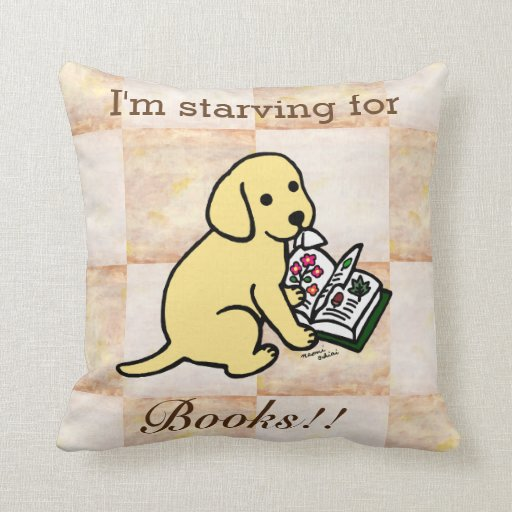 Curious Yellow Labrador Puppy Throw Pillow
