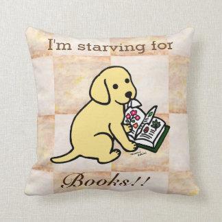 Curious Yellow Labrador Puppy Throw Pillow