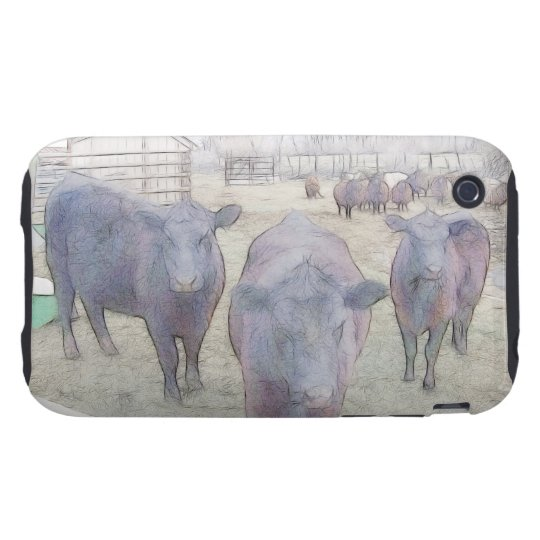Curious Young Black Angus iPhone 3 Tough Cover
