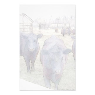 Curious Young Black Angus Stationery