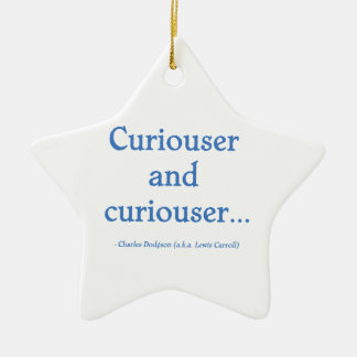 Curiouser and Curiouser Ceramic Ornament