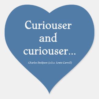 Curiouser and Curiouser Heart Sticker