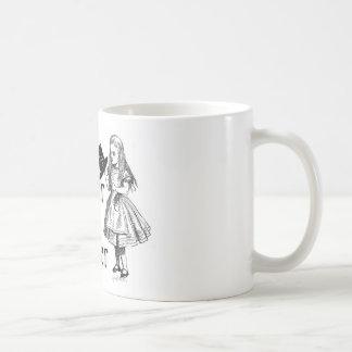 Curiouser and curiouser coffee mug