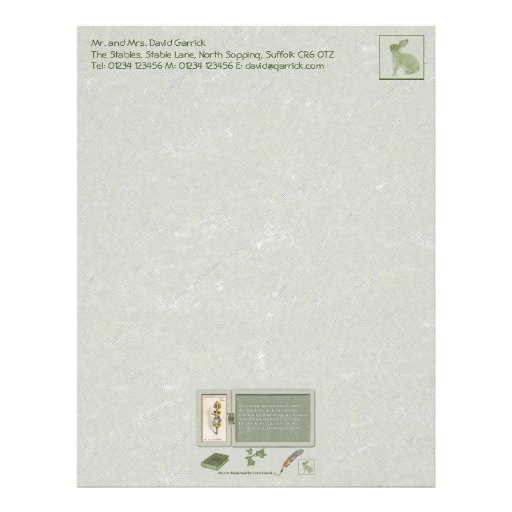 Curiouser and Curiouser Stationery Letterhead Template