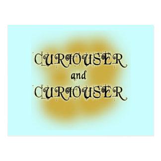 Curiouser and Curiouser T-shirts, Mugs, Apparel Postcard
