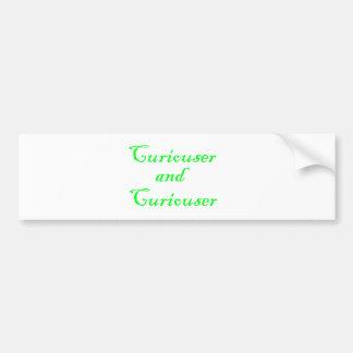 Curiouser & Curiouser Apple Lime Green Bumper Sticker