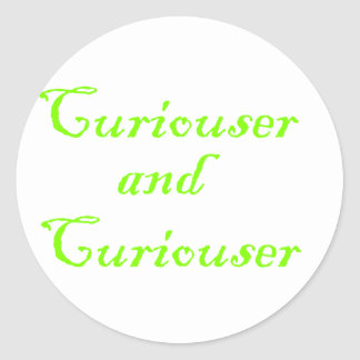Curiouser & Curiouser Apple Lime Green Classic Round Sticker
