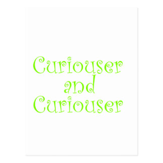 Curiouser & Curiouser Apple Lime Green Postcard