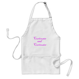 Curiouser & Curiouser in Pink Purple Adult Apron