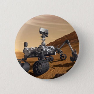 Curiousity Mars Rover, Planetary Space Mission, Pinback Button