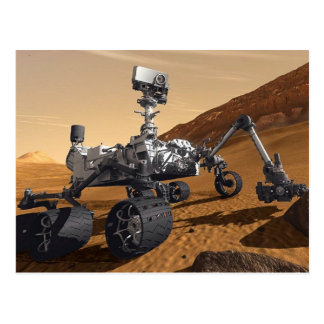 Curiousity Mars Rover, Planetary Space Mission, Postcard