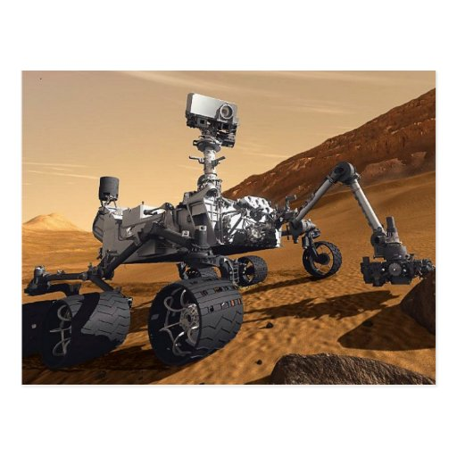 Curiousity Mars Rover, Planetary Space Mission, Post Cards