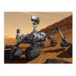 Curiousity Marte Rover, misión espacial planetaria Postales