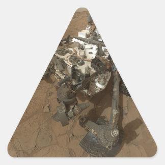 Curiousity Rover Calcomanías De Triangulos