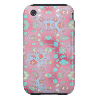 Curiously Colorful Floral Tough iPhone 3 Cases