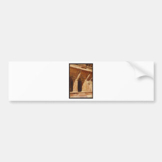 Curiously Wrought Red Sandstone Arches, Fort Agra Bumper Sticker
