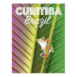 Curitiba, Brazil Travel poster Postcard