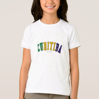 Curitiba in Brazil national flag colors T-Shirt