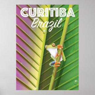 Curitiba, poster del viaje del Brasil