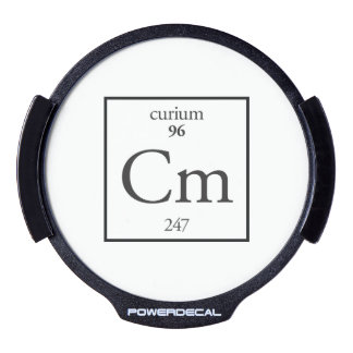 Curium LED Window Decal