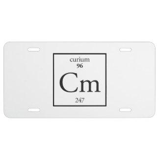 Curium License Plate