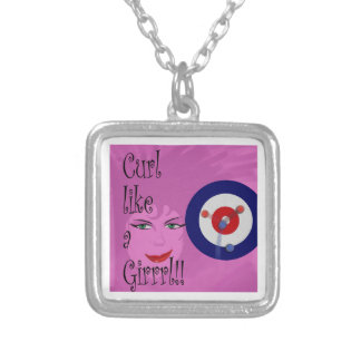 Curl like a Girrrl! Silver Plated Necklace