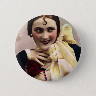 Curl on Her Forehead Pinback Button