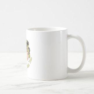Curl Up Classic White Coffee Mug