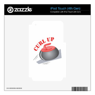 Curl Up Decals For iPod Touch 4G