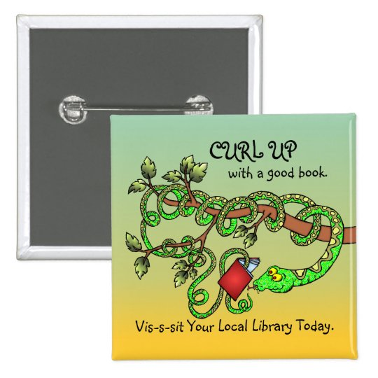 Curl Up With A Good Book Button