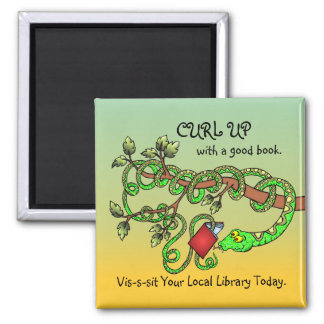 Curl Up With A Good Book Magnet