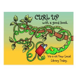 Curl Up With A Good Book Post Cards