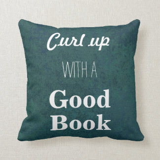Curl Up with a Good Book Throw Pillow