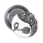 Curled Chinese Dragon Button