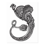 Curled Chinese Dragon Postcard