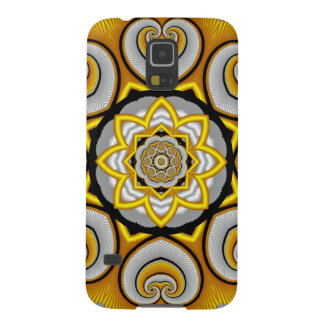 Curled hearts, decorative fractal galaxy s5 case