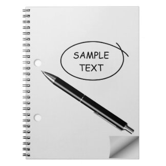Curled Paper & Black Pen Note Book