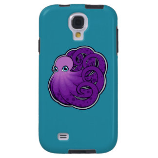 Curled Purple Spotted Octopus Ink Drawing Design Galaxy S4 Case