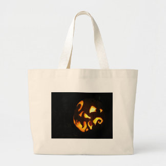 Curled Smile Large Tote Bag