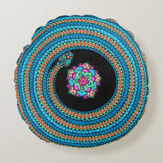 Curled Snake Round Pillow