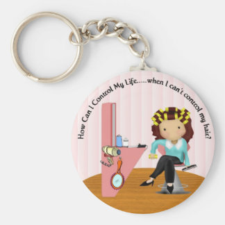 Curler Diva Basic Round Button Keychain