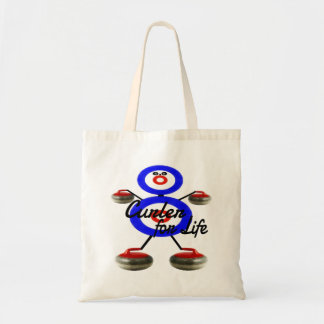Curler for Life Curling Cartoon Tote Bag
