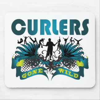 Curlers Gone Wild Mouse Pads