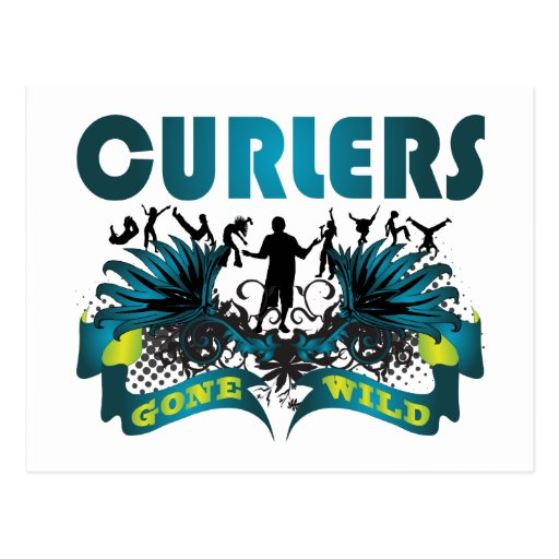 Curlers Gone Wild Postcard