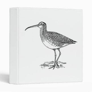 Curlew Bird Illustration Binder