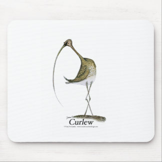 Curlew bird, tony fernandes mouse pad