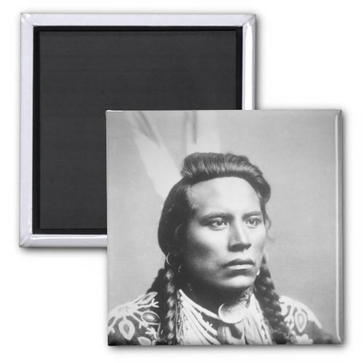 Curley, of the Crow tribe, one of Custer's scouts 2 Inch Square Magnet