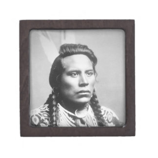 Curley, of the Crow tribe, one of Custer's scouts Keepsake Box